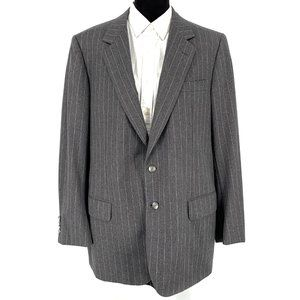 Brioni Grey Pinstripe Wool Blazer size 56R 46 Reg
